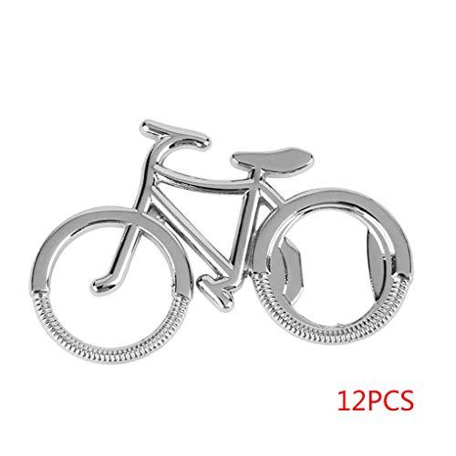 Sunlera 12pcs Bicicletas Botella Llavero en Forma de abrelatas de la Cerveza Soda los Anillos dominantes de Bicicletas Metal Cadena Linda portátil