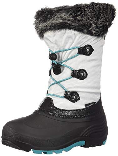 Kamik Girls' Powdery2 Waterproof Winter Boot White 3 Medium US