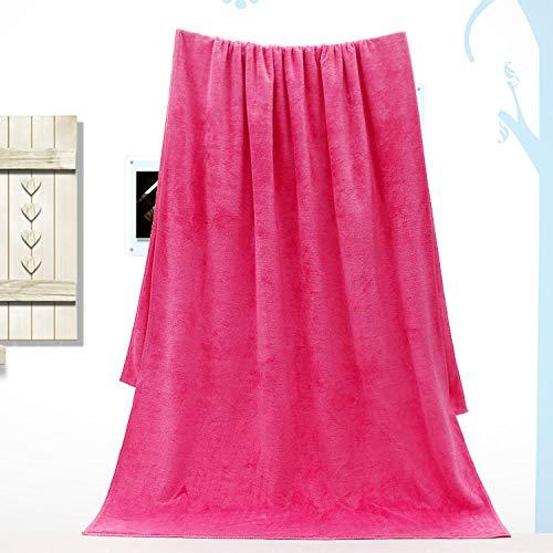 Lyolk Toallas de baño Grandes de 100 * 200, Toallas Grandes y cómodas y Toallas de Cama: Rosa Oscuro [Grosor Medio] _100x200cm