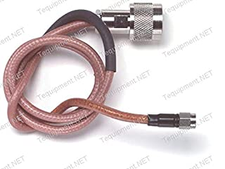 Pomona 5058-X-60 Type N (Male) to SMA (Male) Double Shielded RG142B/U Coaxial Cable Assembly, 60