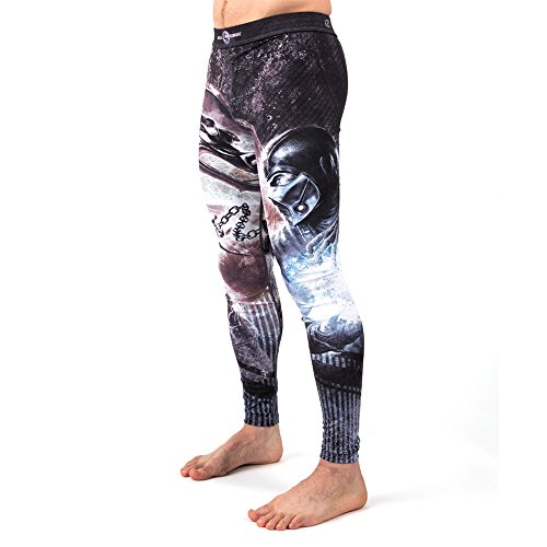 Fusion Fight Gear Mortal Kombat Sub Zero vs. Scorpion Spats Compression Pants (M)