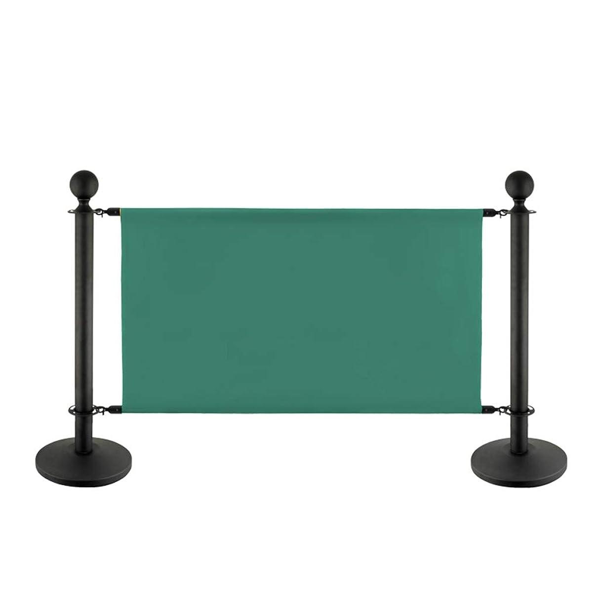中世の季節マイナス広告布の手すりの支柱の列ロープの障壁のポストは群集整理を立てます