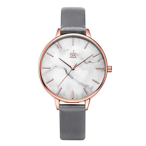 SHENGKE Marble Watch Quartz Ultra-Thin Minimalist Watch for Women Creative Lady Watches Waterproof,Relogio Feminino