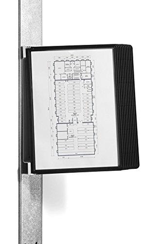 Durable 591801 Sichttafelwandhalter (Vario Magnet Wall 10, mit 10 Sichttafeln A4) schwarz