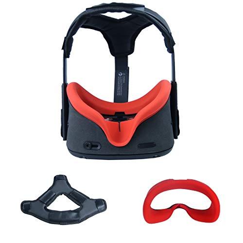 Eyglo Headband Head Strap +VR Cover para Oculus Quest VR Headset Reduzca la Presión de la Cabeza Proteja la Cabeza Accesorios de Oculus Quest Cómodo Head Pad (Rojo)