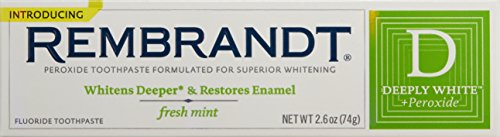 Rembrandt Deeply White Whitening Toothpaste Mint, 2.6 Ounce (Pack of 3)
