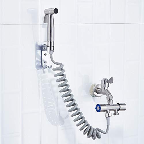 XKMY Accesorios de grifos de acero inoxidable con cabezal de ducha de mano para bidé de ducha y lavabo, adaptador de manguera para lavadora (color: tipo C)