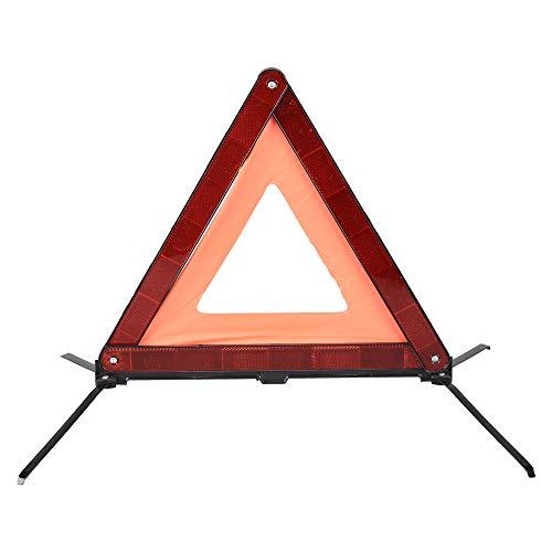 AYKRM Warndreieck Euro mit Aufbewahrungsbox, ECE Zertifiziert -Notfalldreieck- Sicherung von Unfall- und Gefahrenstellen (ROT1)