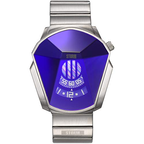 STORM London Darth Lazer Blue, Special-Edition, Herrenuhr, Mineralglas, Edelstahlgehäuse, 5 bar Wasserdicht, 47001/B