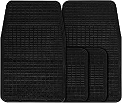 PAMPER YOUR CAR: Choose these heavy-duty mats that are designed to protect the car's floor. All-season mats protect the car's interiors against threats like water & snow that can bring about corrosion. CONQUER ABRASION PROTECTION: The rubber car mats...