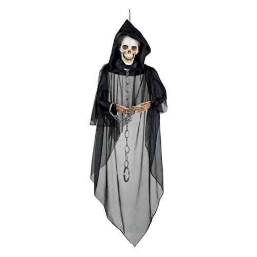 Boland- Decorazione Scheletro Spettro Skull Ghost, Nero, 72007