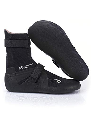 Rip Curl Flashbomb Surfing Booties | Split Toe | 5mm | Lightweight, Ultra Warm Water Sport Surf Socks for Surfing, Swimming, Snorkeling | Pairs Well Flashbomb Wetsuit