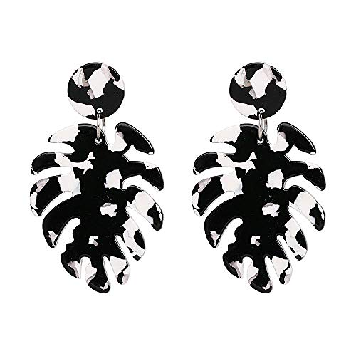 XCWXM 7 color fashion female earrings large round retro personality earrings for women-51127-BW