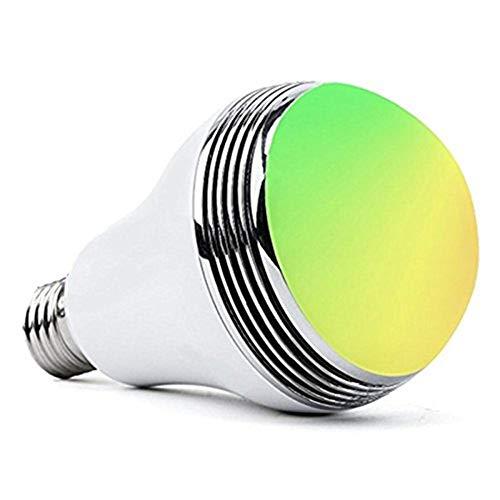 スマートLED電球 Matchdor LED音楽電球 26mm口金直径 スピーカー内蔵 省エネ RGB調色・調光タイプ マルチカラー ワイヤレスBluetooth4.0 APPコントロール【2年安心保証付き】
