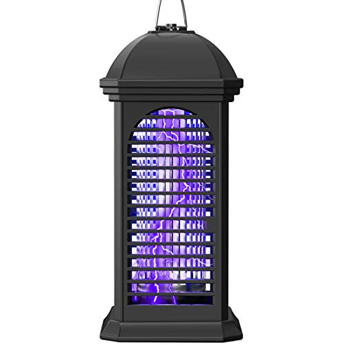 Electric Mosquito Zapper, 11W Powerful 4200V Bug Zapper Insect Killer, Mosquito Lamp,Light-Emitting Flying Insect Trap for Indoor, Backyard, Farm(Black)