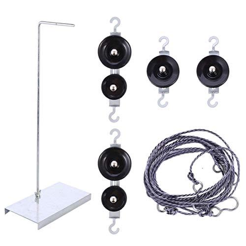 ULTECHNOVO - Equipo de desexperimentación mecánica del bloque de polea – Conjunto de poleas para desexperimentación física sin dinamómetro ni peso
