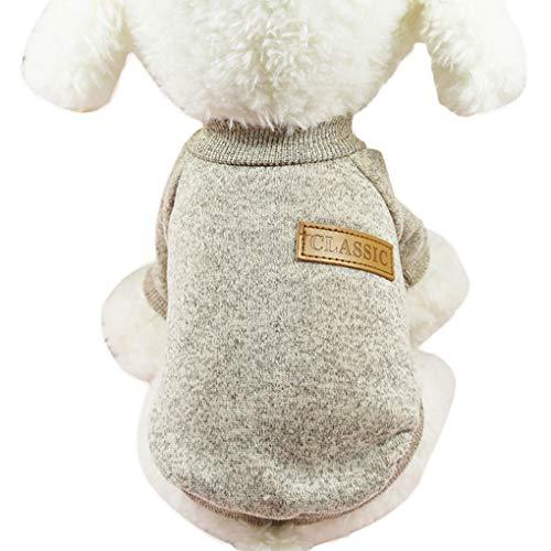 DONGJIE Kleine Hunde Welpen-Katze-Kleidung Chihuahua Winterkleidung weicher Warmer gestrickte Kleidung Weicher Strick Haustier-Weste-Strickjacke