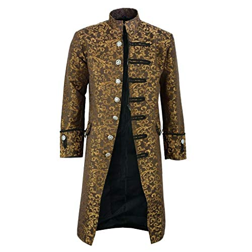 cinnamou Herren Mantel & Jacke Frack Steampunk Gothic Vintage Viktorianischen Herrenjacke Gehrock Cosplay Kostüm Smoking Uniform Kostüm Retro Mittelalter Kleidung Herbst Winter Party Oberbekleidung