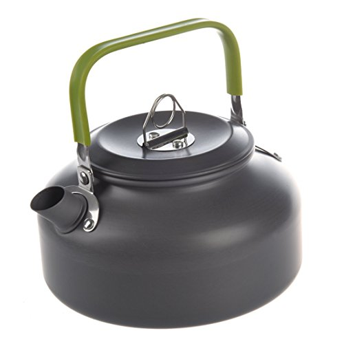 TOOGOO(R) 0.8L Tragbar Ultraleicht Im Freien Wandern Camping ueberleben Wasser Kessel Teekanne Kaffee Topf Eloxiert Aluminium