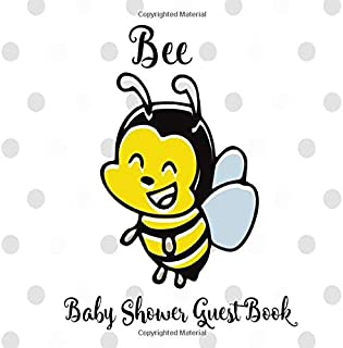 Bee Baby Shower Guest Book: Honey Bumble Bee Yellow, Black & Grey Welcome Baby ( Gender Neutral) Sign in Book Keepsake with Address and Gift Log Tracker.