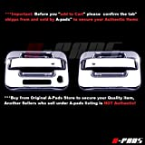A-PADS 2 Chrome Door Handle Covers for Ford F150 2004 05 06 07 08 09 10 11 12 13 2014 - WITH Keypad & WITHOUT Passenger Keyhole