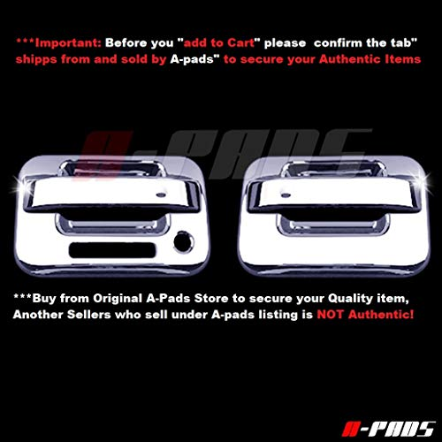 A-PADS 2 Chrome Door Handle Covers for Ford F150 2004 05 06 07 08 09 10 11 12 13...