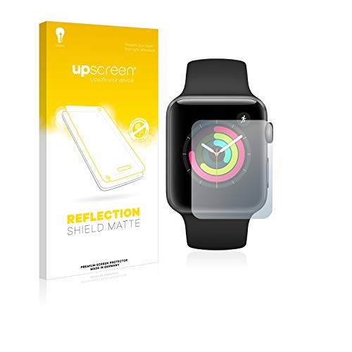 upscreen Entspiegelungs-Schutzfolie kompatibel mit Apple Watch Series 3 (42 mm) – Anti-Reflex Displayschutz-Folie Matt