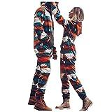 Sunnymi Hommes Mode Couple Porter Polaire à Manches Longues Fermeture éclair à Capuche Combinaison Hommes Hiver Mode Pantalon Chaud