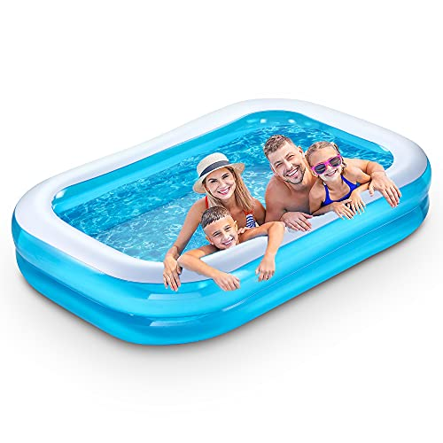 SLLAK Inflatable Swimming Pool, 103' X 69'X...