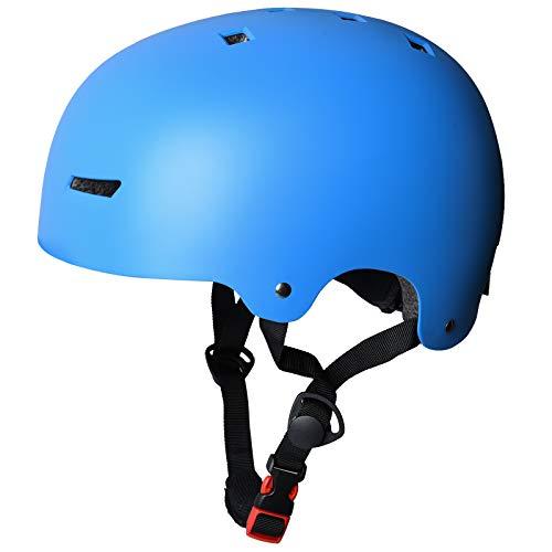 LOOGU Casco de bicicleta para monopatín, scooter, BMX, 3 tamaños (51-61 cm), para niños, jóvenes, adultos, casco deportivo – con certificado EN1078