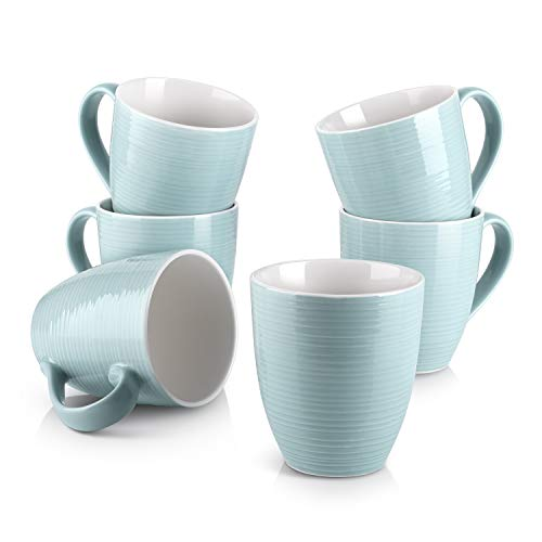 Turquoise Mugs, Set of 6