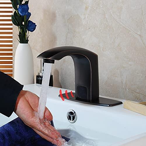 Grifo de la cocina Sensor de grifo de baño, manos automáticas, sin contacto, ahorro de agua, grifo de agua eléctrico inductivo, batería, grifos de lavabo