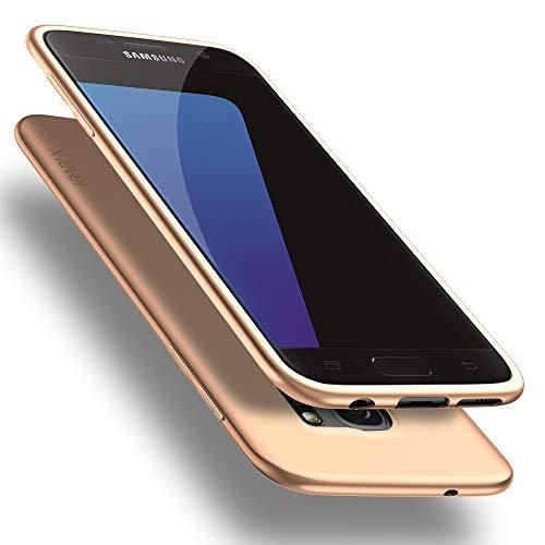 X-level Samsung Galaxy S7 Hülle, [Guardian Serie] Soft Flex TPU Case Ultradünn Handyhülle Silikon Bumper Cover Schutz Tasche Schale Schutzhülle für Samsung Galaxy S7 - Gold
