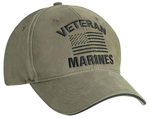 Rothco Vintage Veteran Low Profile Cap (Marines/Vintage Olive Drab, One Size)
