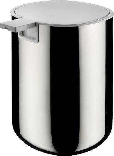 Alessi Pl05 Birillo Doseur Pour Savon Liquide en Pmma, Blanc et Acier Inoxydable 18/10 Brillant