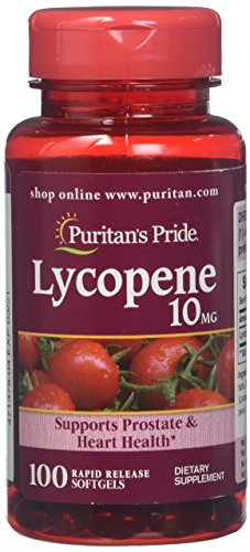 Lycopene, Supplement for Prostate and Heart Health Support* 10 Mg Softgels, 100 Count by Puritan's Pride