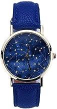 Relógio Constelação de Pulso Azul + Relógio LED - 4cm