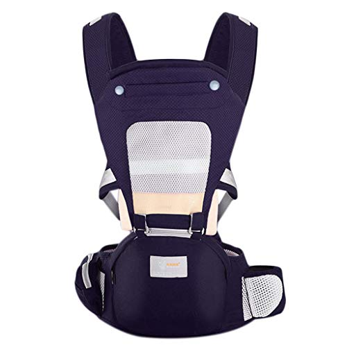 Manyo - Portabebé ergonómico multifunción portabebés, cinturón de cadera de algodón, mezcla de canguro, portabebés, cinturón de cadera, 10 a 30 kg morado Talla:27,95-46,45 in