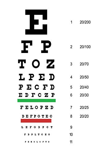 Snellen Eye Chart Planner: Daily Planner for Optometrists, Ophthalmologists, or Opticians