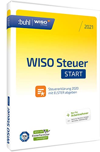 WISO Steuer-Start 2021 (für Steuerjahr 2020 | Standard Verpackung) jetzt mit automatischem Umstieg von Elsterformular