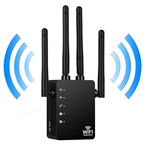 LIDIWEE WiFi Extensor Repetidor Enrutador 1200 Mbps Amplificador Amplificador de Señal Antena Externa