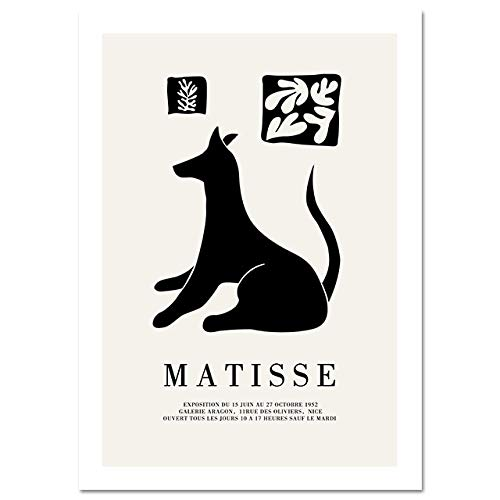 Matisse silueta abstracta moderna línea del cuerpo póster cuadro de arte de pared lienzo nórdico impresión sin marco pintura en lienzo A4 40x60cm