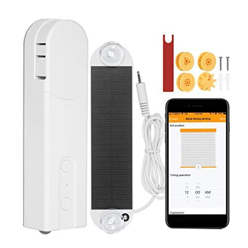 KKmoon Vorhang Rollos Gardinen Motor Smart Rolladenmotor WiFi Tuya APP und BT-Steuerung automatischen Rollo Motoren Switchbot Kompatibel mit Alexa Google Home Sprachsteuerung Programmierbarer