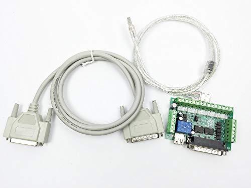 5-Achsen CNC Breakout Board für Stepper Driver Controller mach3 für Arduino Driver Mach3 + USB-Kabel + DB25 Parallelkabel 2 Bestellungen