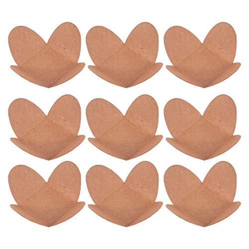 Hemoton 100 Unidades de Bandejas de Papel Kraft para Alimentos Tazas de Papel de Chocolate Envoltorios de Trufa para Chocolate Forros para Magdalenas Dulces de Postre (Caqui)