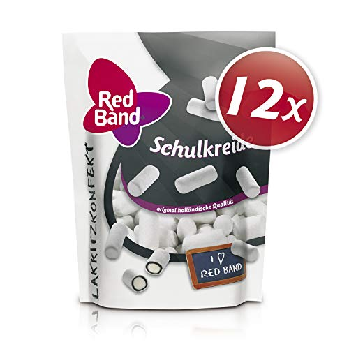 Red Band Schulkreide Lakritzkonfekt 175 g Stehbeutel – 12er Pack | Lakritz