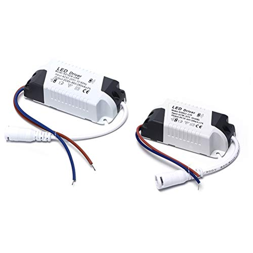 2 x Driver LED, 4-7 W Transformador para plafón LED, alimentador panel...