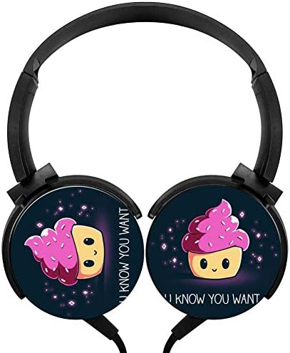 Cute Cupcake Wired Stereo Headphone Earbuds Over Ear Bass Lightweight Portable Headphone product image