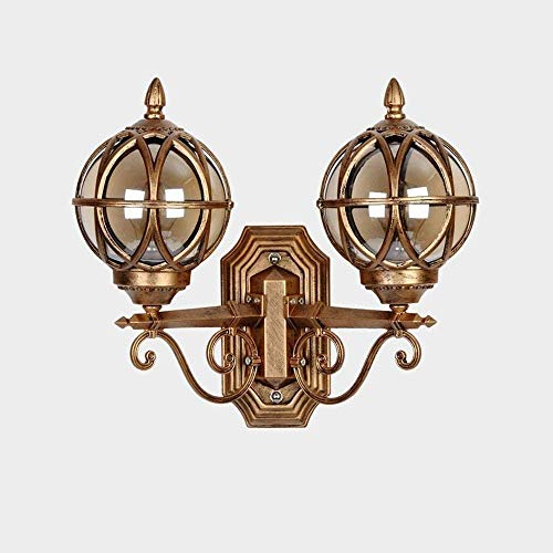 Iluminación decorativa Lámpara de pared Aplique de pared para exteriores Lámpara de pared, Farol de pared Aplique de pared Pantalla de vidrio Patio Jardín Aplique de pared exterior Villa Balcón E27