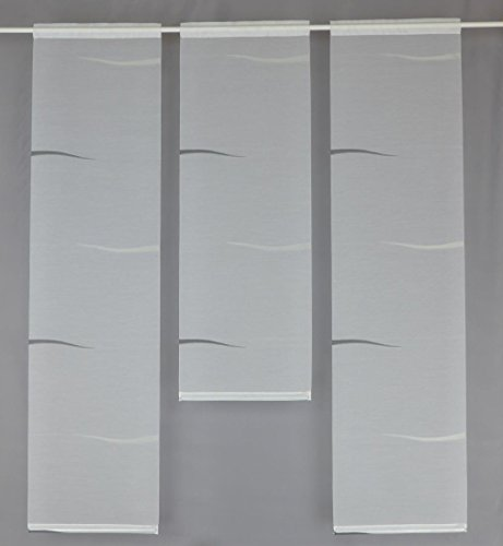 Gardinen Röttger Miniflächen-Set weiß mit Muster Schlamm als Scheibengardine